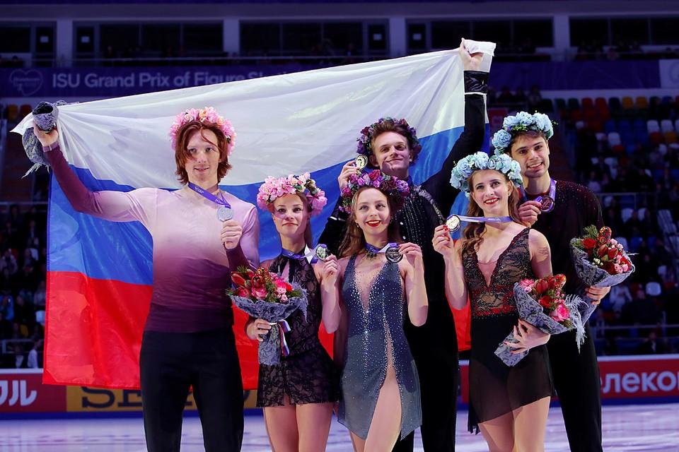 В Москве церемонией награждения и показательными выступлениями завершился пятый этап серии Гран-при по фигурному катанию