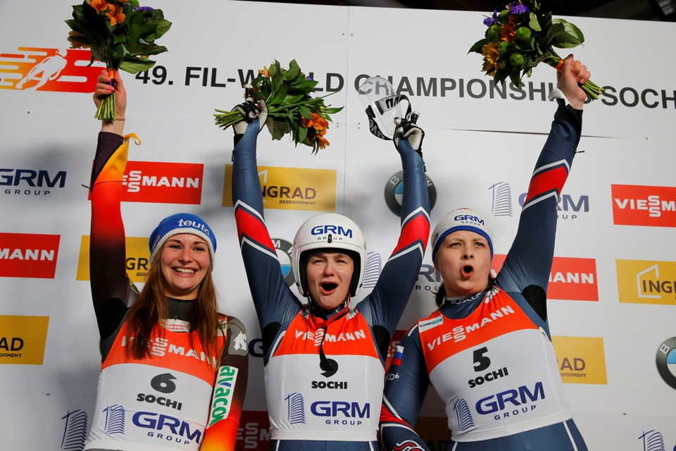 Российская саночница Екатерина Катникова заняла первое место в индивидуальных соревнованиях на Чемпионате мира по санному спорту 2020, который проходит в Сочи.