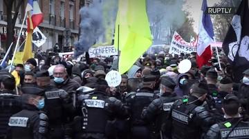 В Париже проходит акция протеста против законопроекта о съемке полицейских