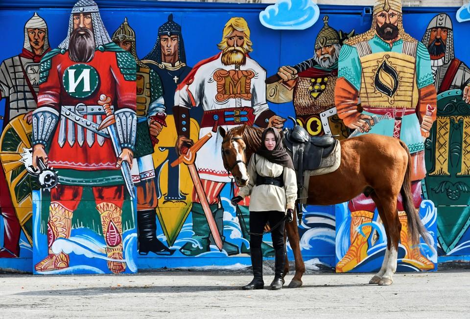 Во время праздничных мероприятий в честь Дня защитника Отечества во Владивостоке.