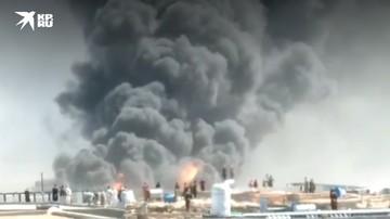 Иран: Массивный пожар вспыхнул на таможенном пункте у границы с Афганистаном