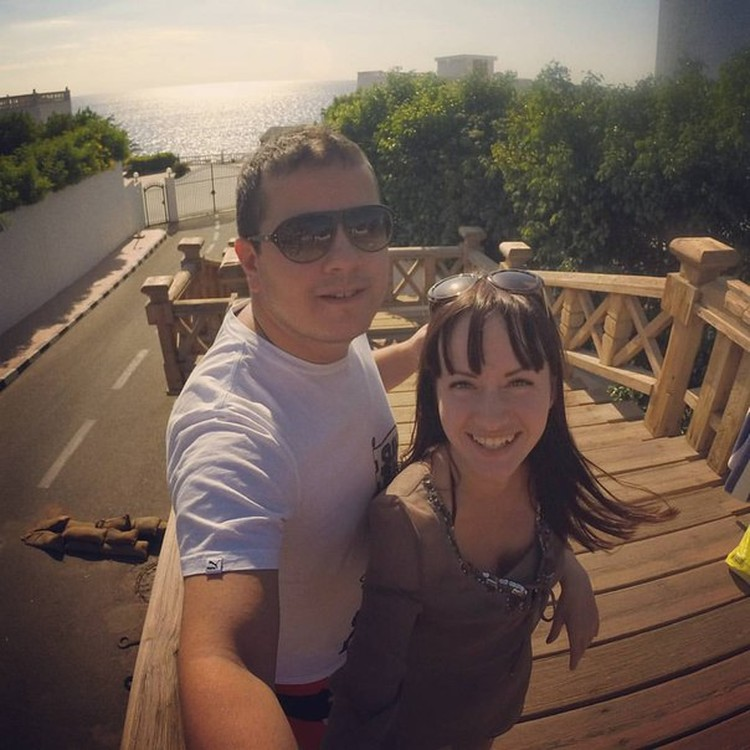 Леонид Гордин и Саша Илларионова - их последнее селфи. Фото: соцсети