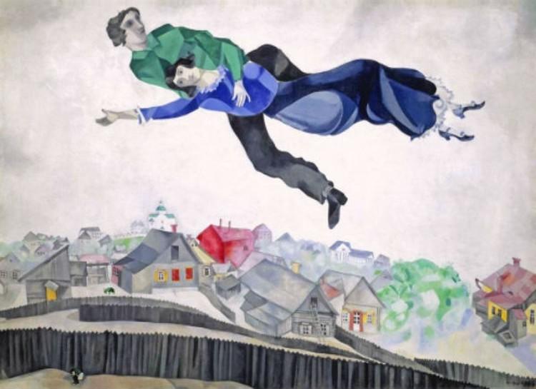 Над городом. Марк Шагал. Фото: из архивов Третьяковской галереи.