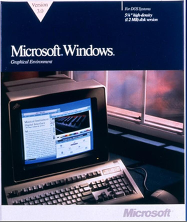 А это знаменитая Windows 3