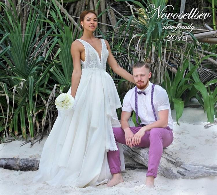 Свадебный наряд счастливой пары