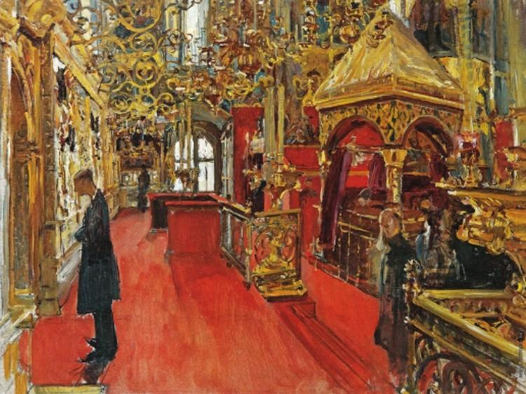 «Внутренний вид Успенского собора»