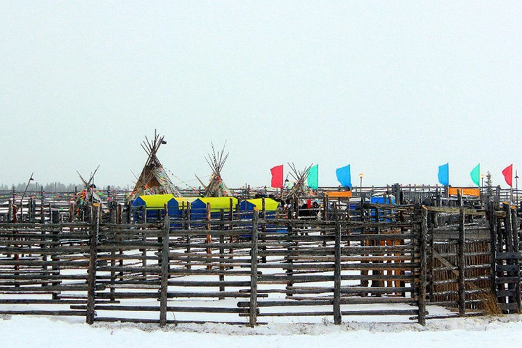 Национальные юрты и яркие современные палатки - все смешалось на съемочной площадке. Фото: Мария Демидова