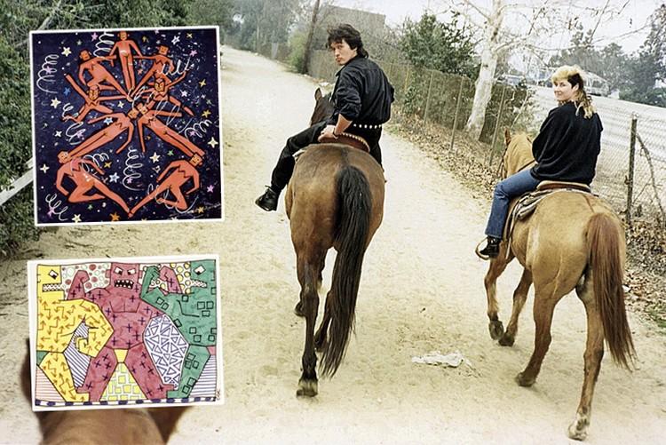 Стингрей дружила и с Виктором Цоем. В 1989-м Джоанна показывала рисунки Виктора (на фото) в Америке на выставке «Красная волна». Фото: joannastingray.com