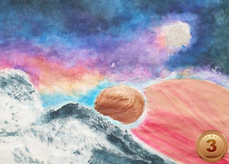 «Дремучий космос», автор - Маша Тараховская (13 лет), Русский культурный центр штата Мичиган (США)