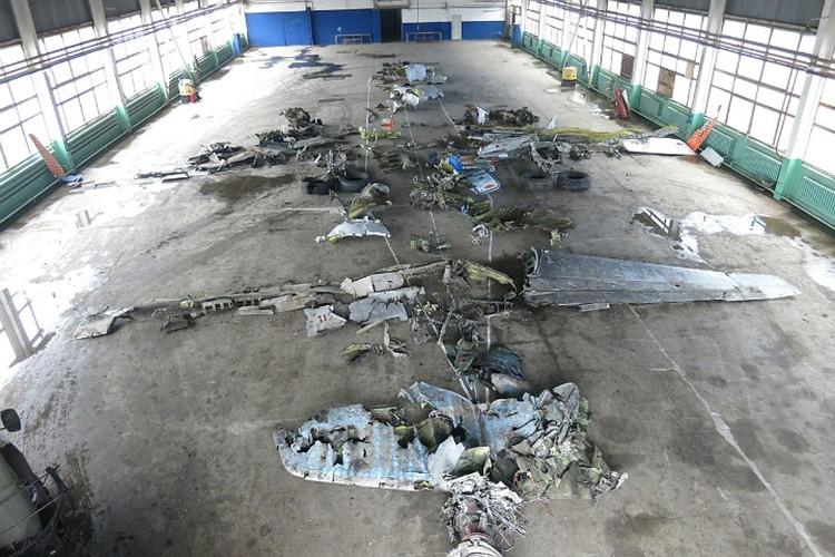 """""""Выкладка"""" разбившегося лайнера. Фото: МАК."""