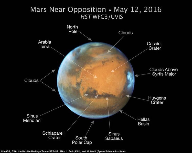 Свежий снимок Марса, сделанный с помощью космического телескопа.