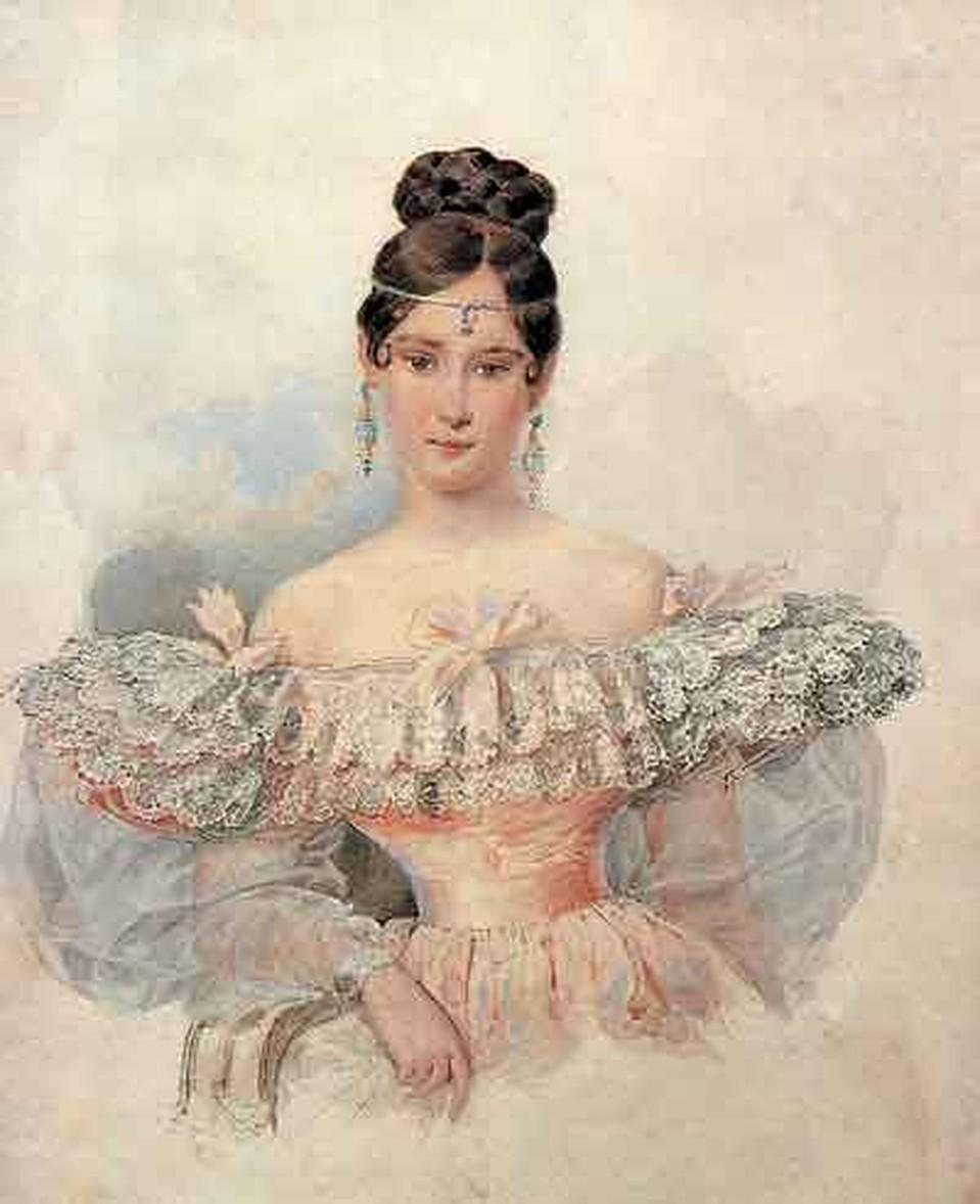 А.П.Брюллов. Портрет Н.Н. Пушкиной. 1831–1832.