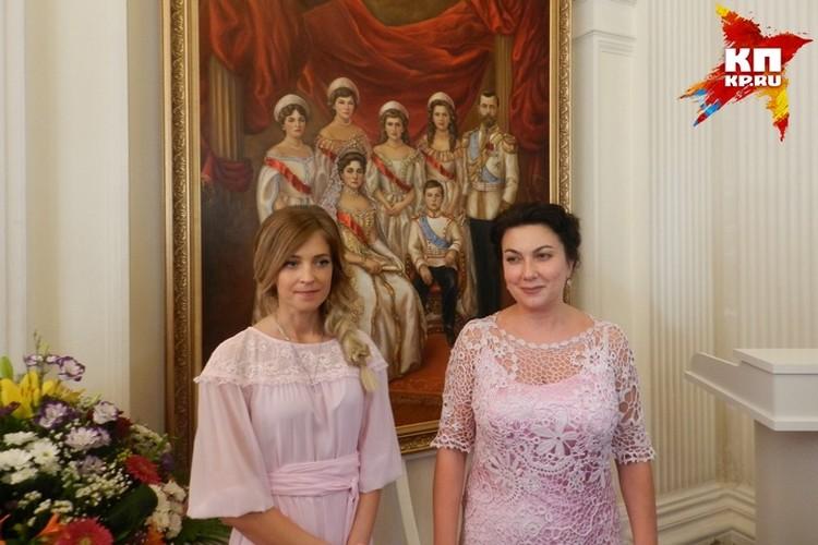 На презентацию картины приехала министр культуры Крыма Арина Новосельская