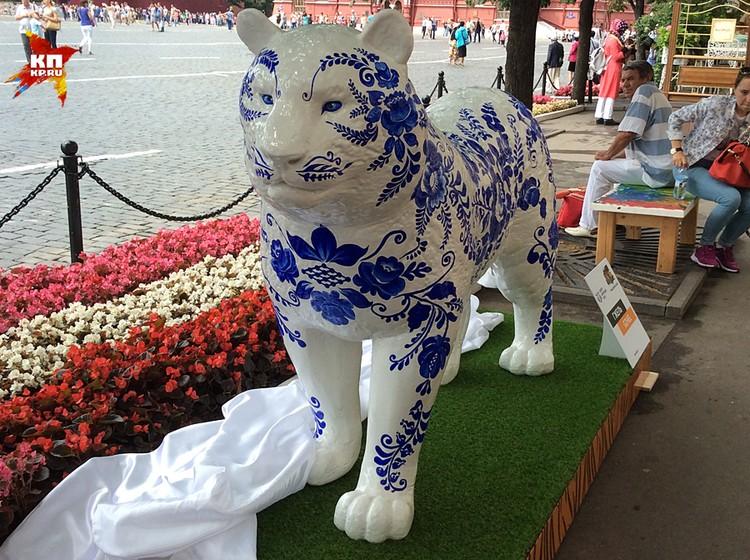 Амурские тигры и леопарды переехали на Красную площадь