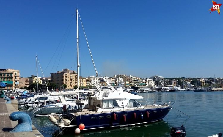 Анцио – небольшой портовый городок.