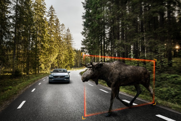 Внедорожник XC90 и седан S90 уже включают технологии обнаружения крупных животных и систему предотвращения съезда с дороги. То ли еще будет!