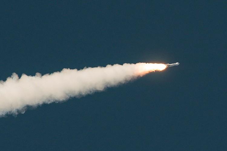 Старт ракеты с зондом OSIRIS-REx.
