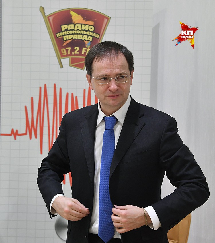 """Владимир Мединский перед коротким интервью """"Комсомолке""""."""