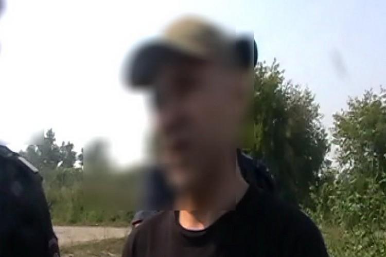 Евгений Чуплинский на следственном эксперименте. Фото: СКР по Новосибирской области