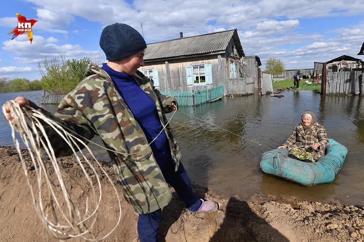 Деревня Боково Абатского района превратилась в остров