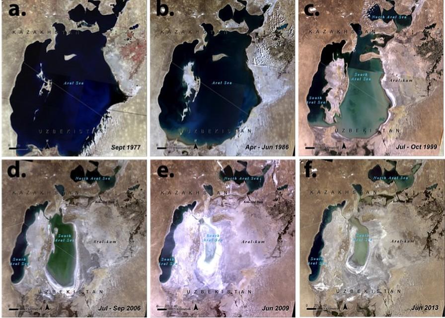 Так высыхало Аральское море.