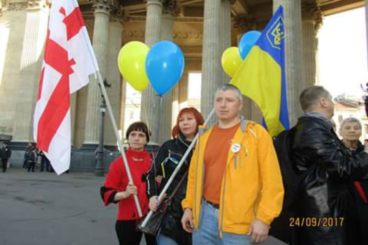 Марш попытались провести в самом центре города на Неве. ФОТО: соцсети
