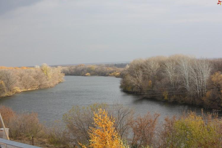 Свято-Никольский женский монастырь, вид с колокольни храма на реку Иргиз.