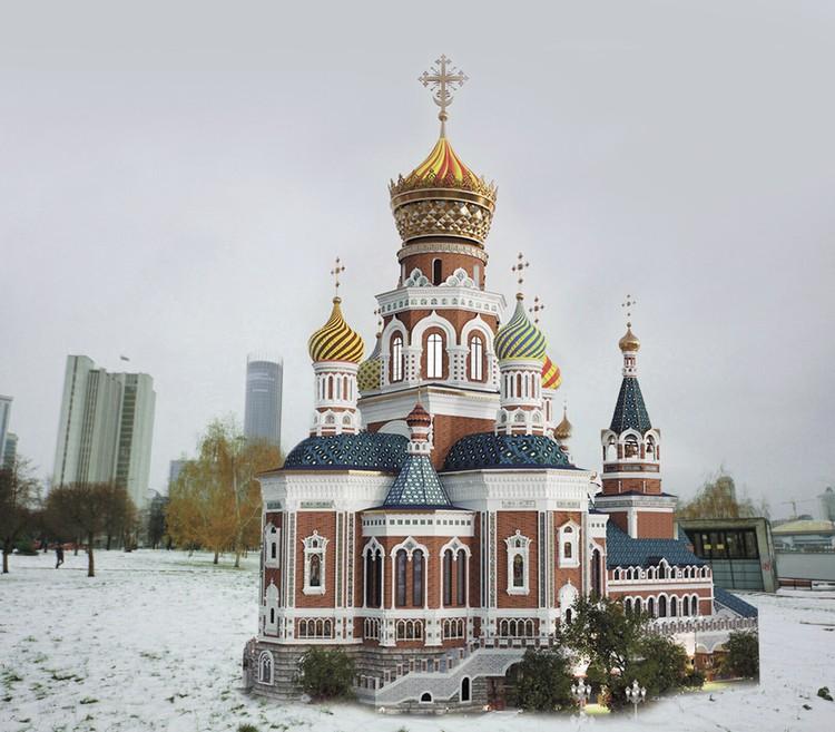 Мы пофантазировали, как может выглядеть храм рядом с Октябрьской площадью