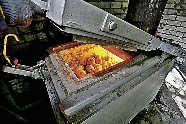 Обычно в печи отправляют мясо, но бывает, что и яблоки.