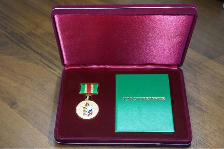 Ректора НГСХА Александра Самоделкина наградили золотой медалью Минсельхоза РФ. Фото предоставлено НГСХА.