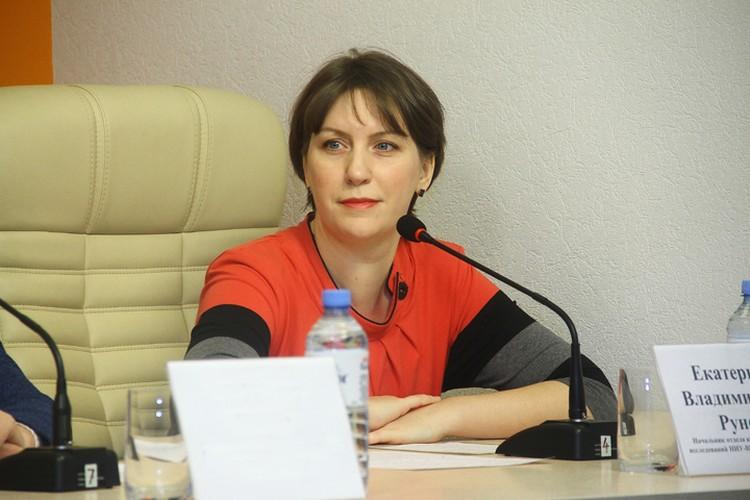 Начальник отдела координации научных исследований НИУ ВШЭ - Нижний Новгород Екатерина Рунова.