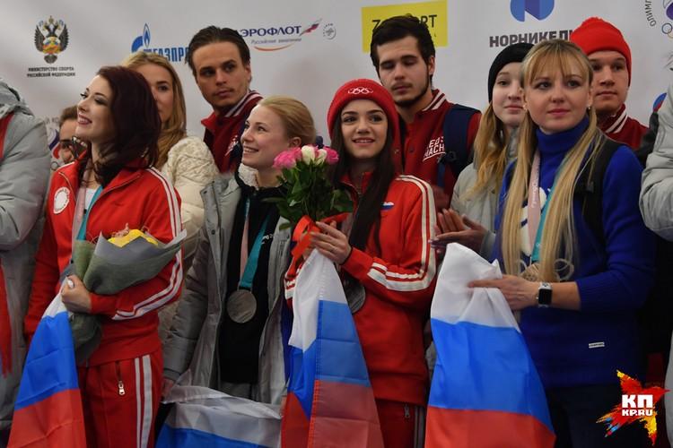 Спортсмены в аэропорту Шереметьево