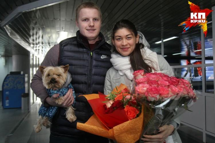 Анастасия с женихом Никитой Любославским, который, кстати также является спортсменом.