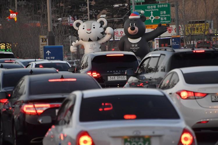 Пробки на олимпийской трассе