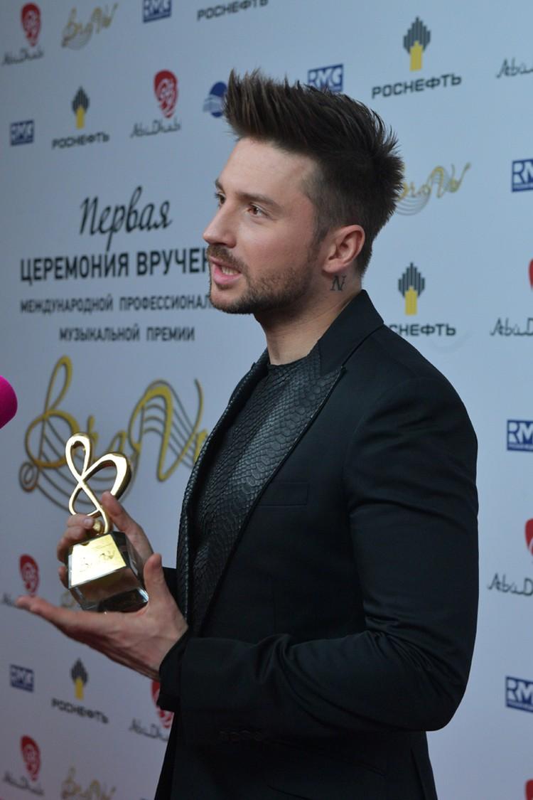 """Сергей Лазарев стал """"Певцом года"""""""