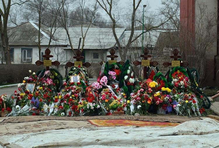 Новомучеников похоронили прямо в ограде храма