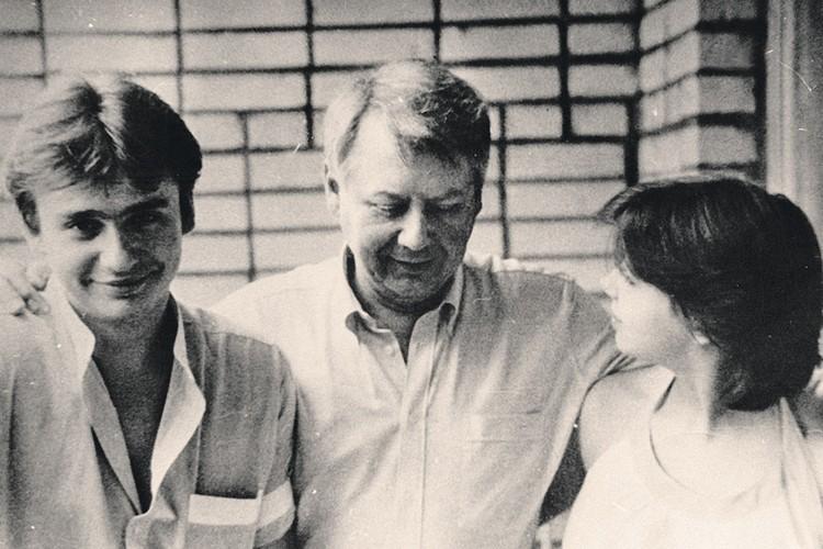 Олег Табаков с сыном Антоном и дочерью Александрой. Фото: Личный архив