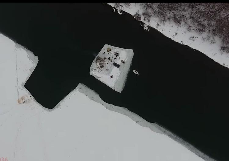 Воронежцы отправились на льдине по Дону уже не в первый раз.