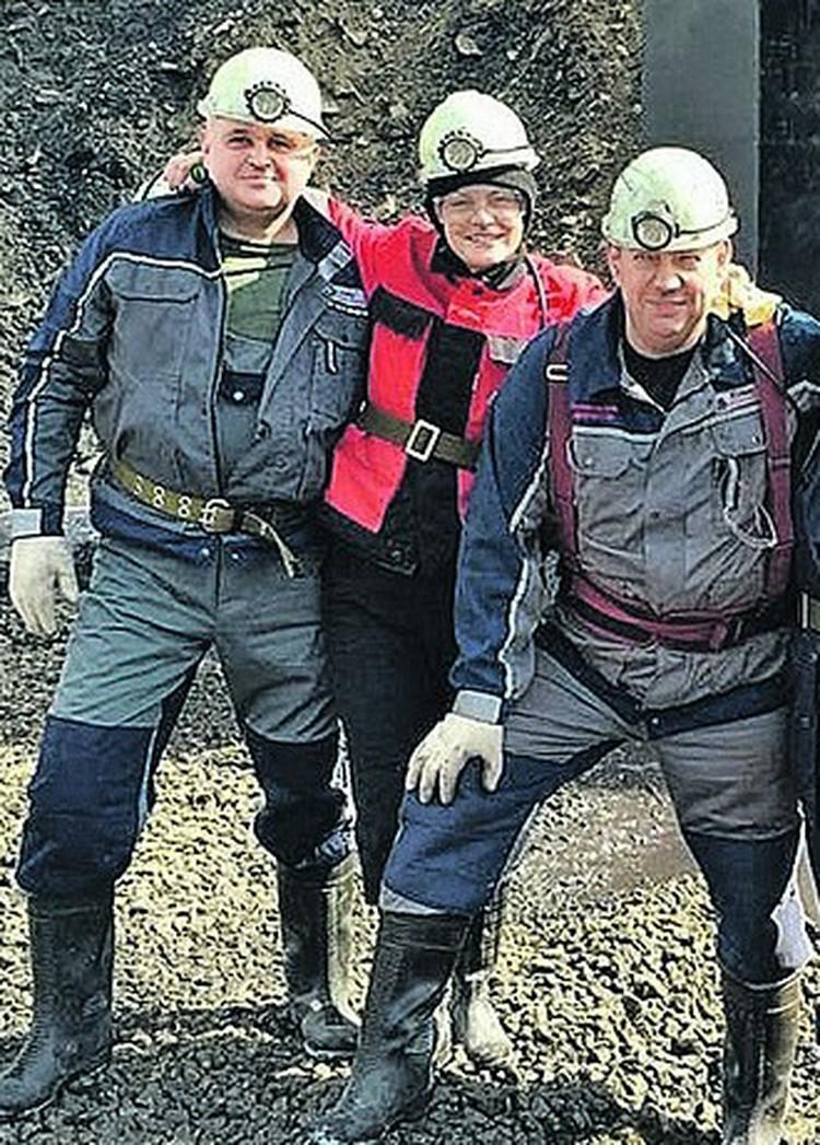 Сергей Цивилев (слева), его супруга Анна и Артем Левин, заменивший Сергея Евгеньевича на посту гендиректора компании «Колмар». Нерюнгри, 2016 год