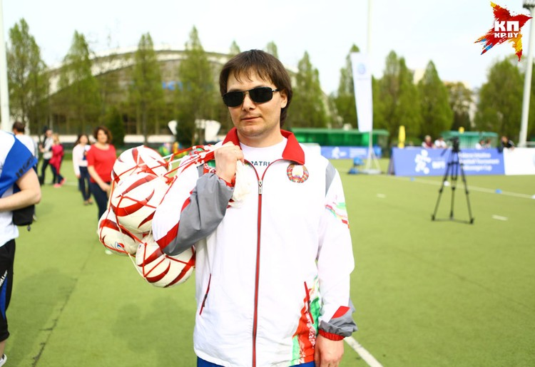 Капитан сборной Беларуси по футболу категории B1 Юрий Ардынов.