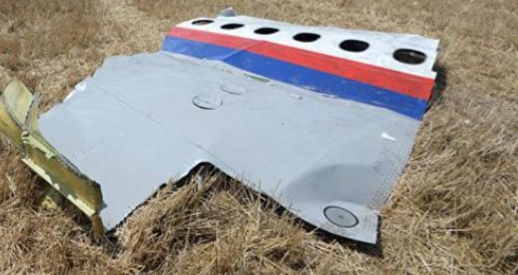 Обломок фюзеляжа, найденный под Петропавловкой.