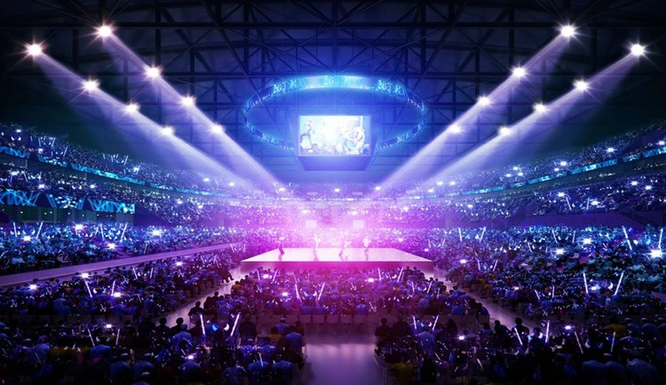 Также артисты могут выступать на площадке, собранной в центре арены. Места для зрителей в таком случае будут располагаться вокруг нее. Фото: УГМК