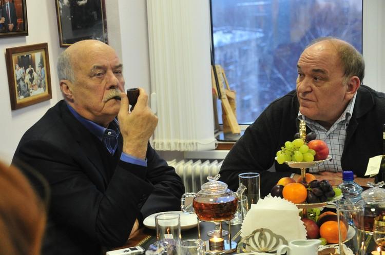 Станислав Говорухин и военный обозреватель «КП» Виктор Баранец.