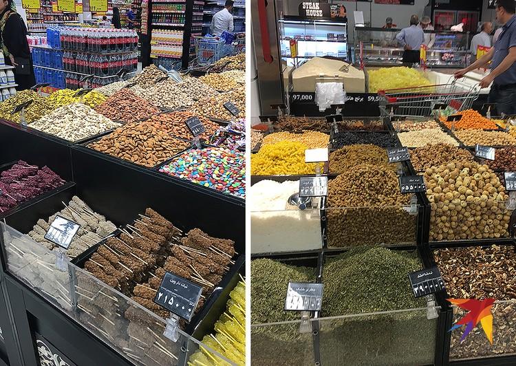 Слева внизу – сахар на палочке. Иранцы любят размешивать его в чае, а не насыпать
