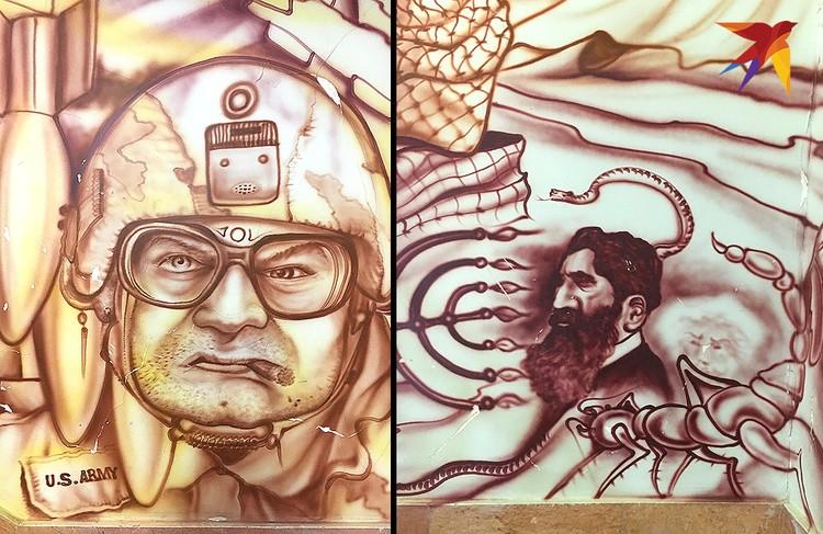 Многие граффити посвящены милитаризму США