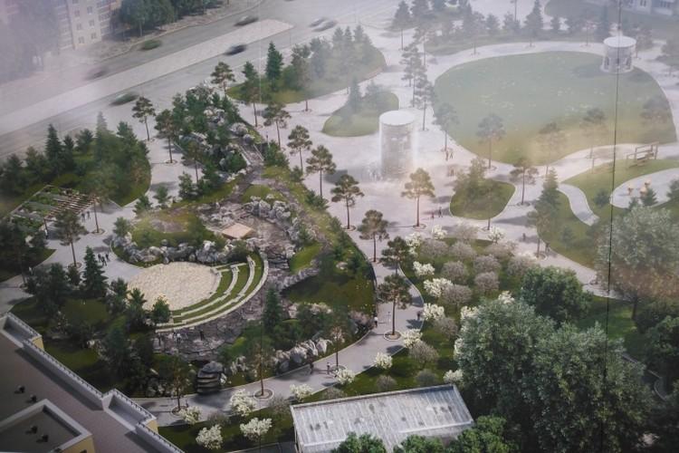 Детали плана будущего сквера