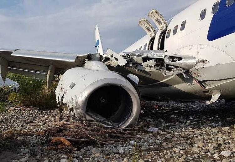 Самолет получил серьезные повреждения