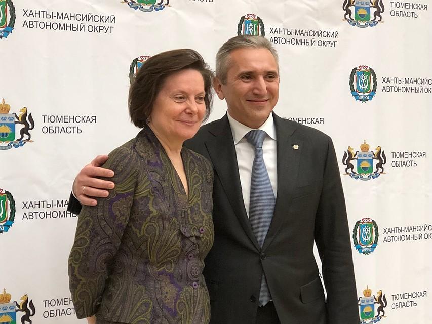 С губернатором ХМАО-Югры Натальей Комаровой Фото: Алексей КОСЕНЧУК