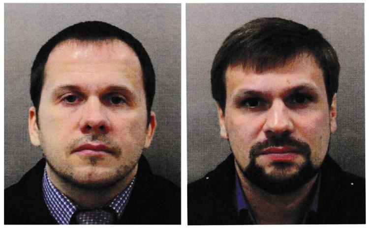 Обвиняемые Британией в причастности к покушению на Скрипалей Алексей Петров и Руслан Боширов.