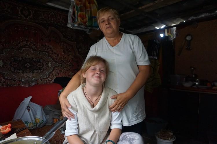 С бабушкой Валей.